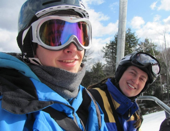 David with Molly Hajjar at Crotched Mountain Ski Area ~ February, 2012