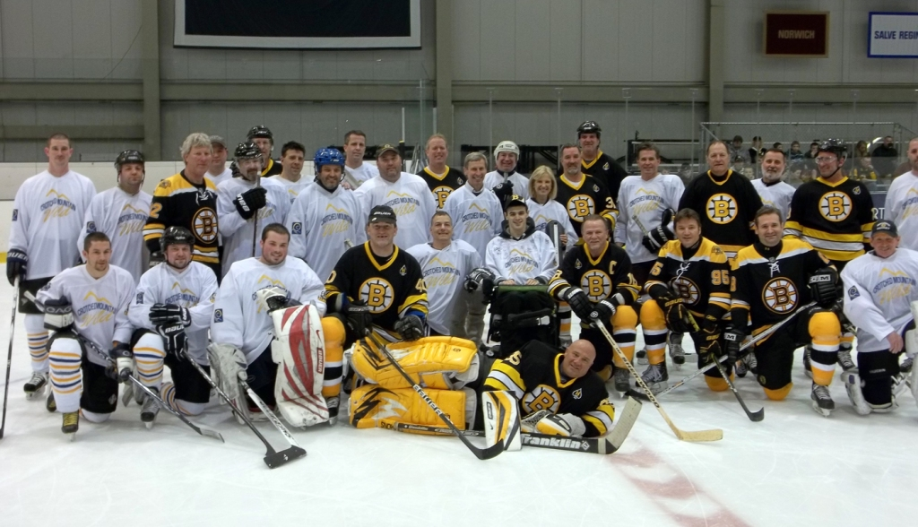 David with the Bruins Alumni and the Crotched Mountain Wild
