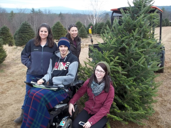 David and family getting the tree